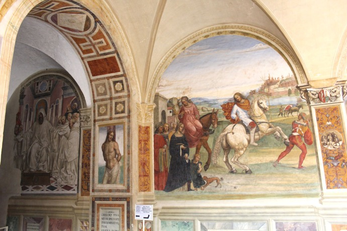 Monte Oliveto horses and monks panels