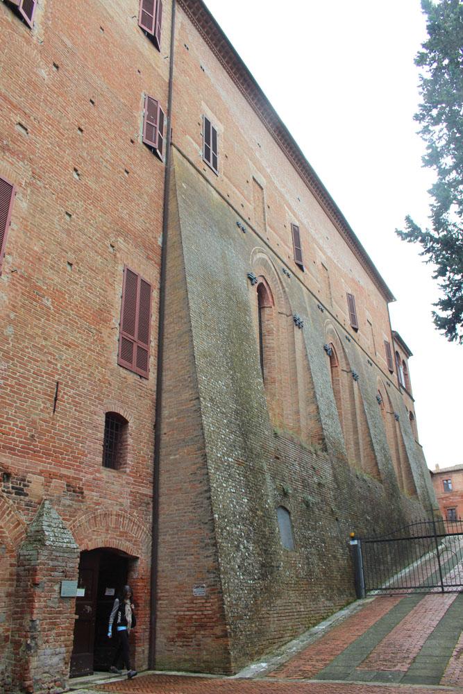 Monte Oliveto monastery wall