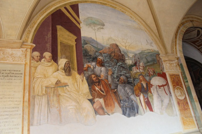 Monte Oliveto monks and knights panel