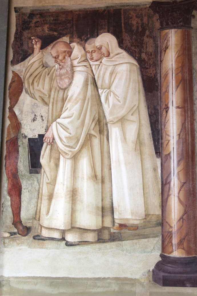 Monte Oliveto monks standing, beard