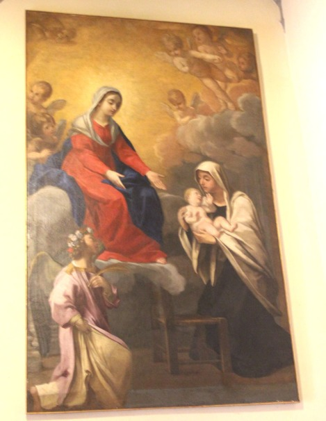 Monte Oliveto painting, mother and child