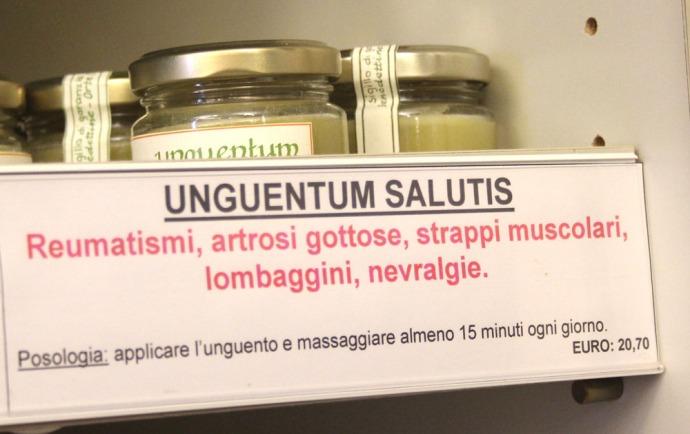 Monte Oliveto pharmacy ointment shelf