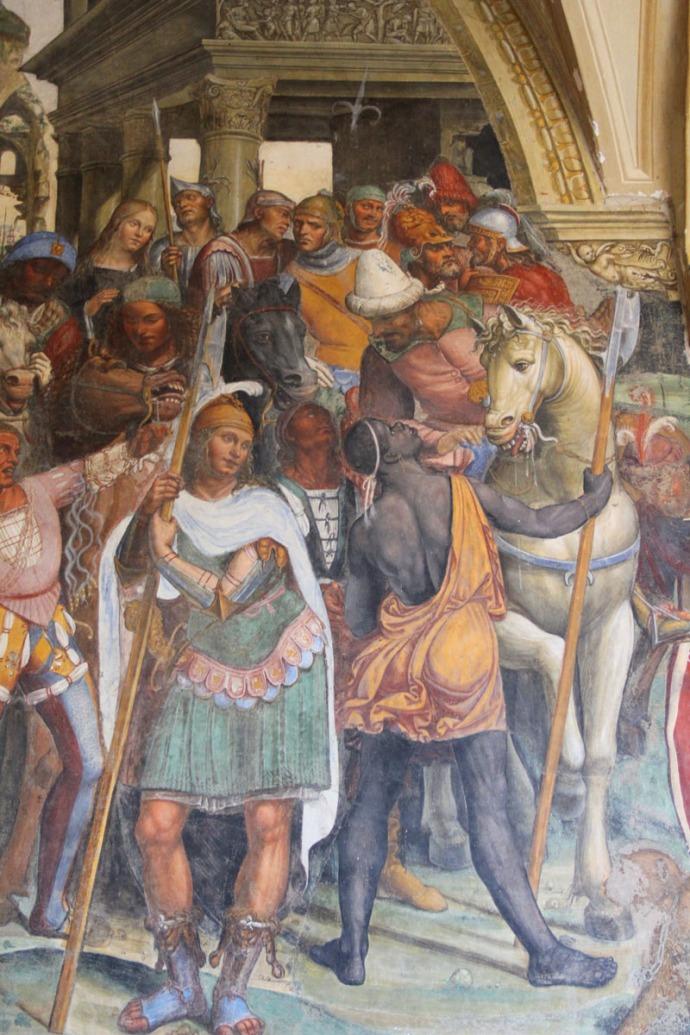 Monte Oliveto portion of panel turks