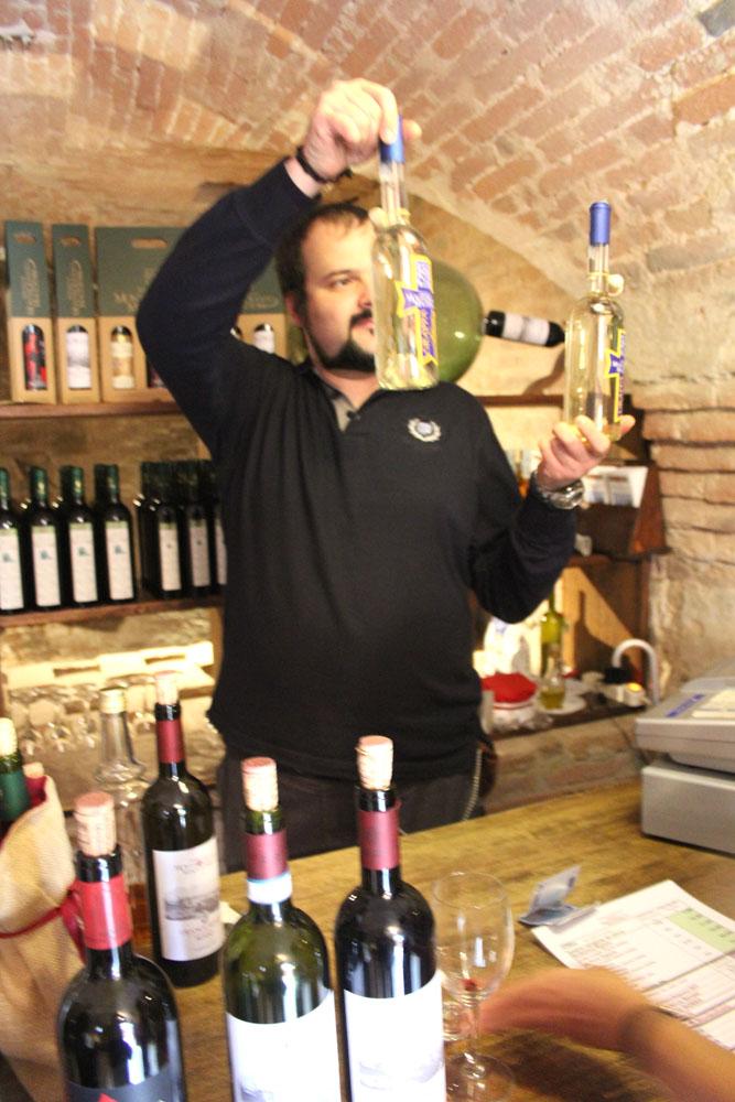 Monte Oliveto tasting, grappa selection