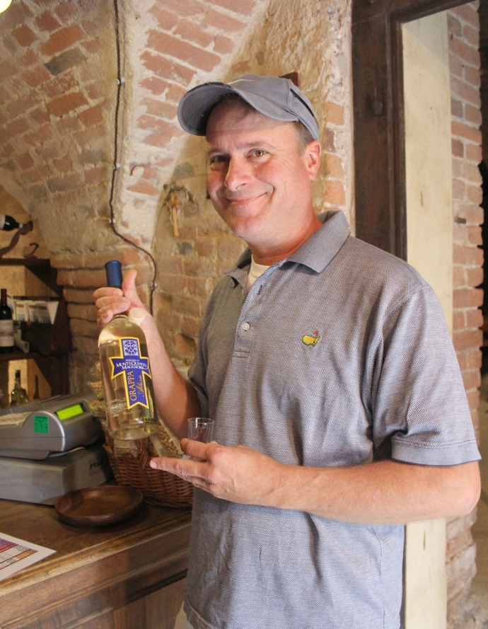 Monte Oliveto Wally with grappa