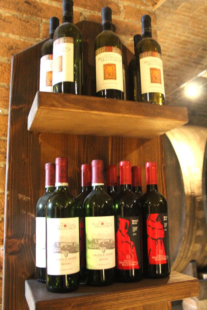 Monte Oliveto wine on shelves