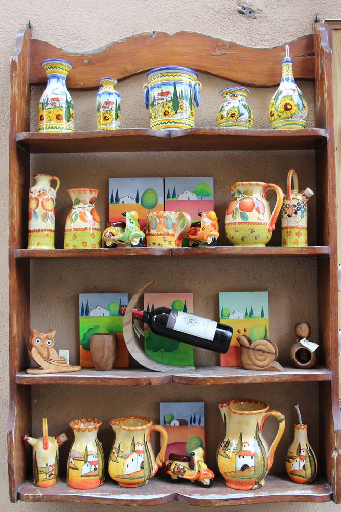 Montepulciano ceramics shelf