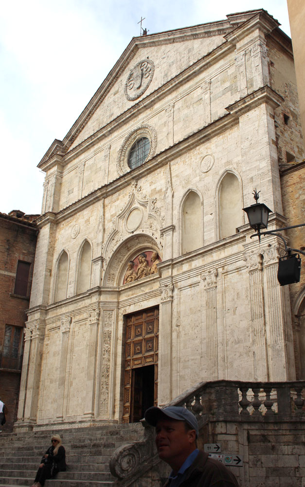 Montepulciano church exterior