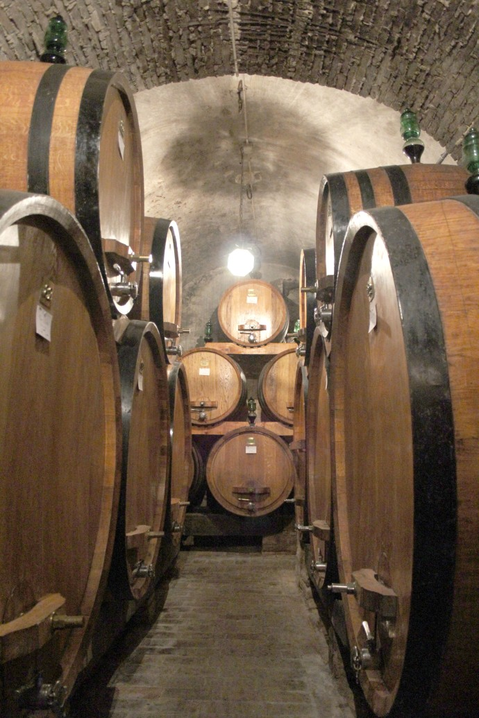 Montepulciano Contucci wine casks vert