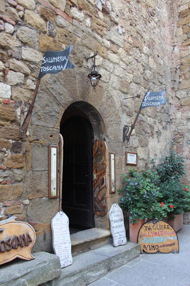 Montepulciano Salumera Toscana entrance