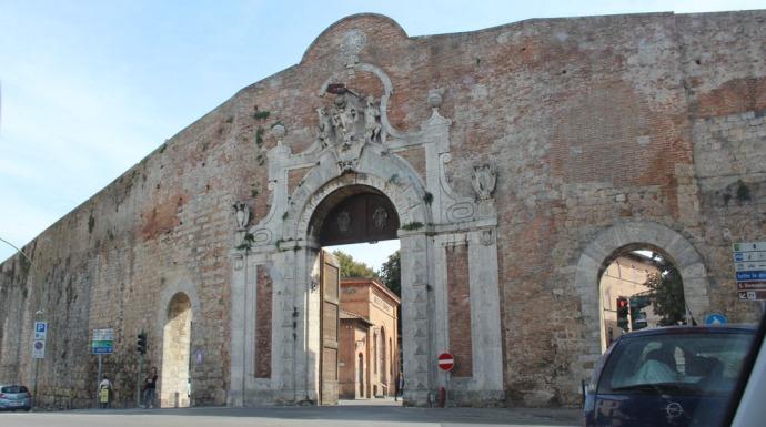 Siena town gate