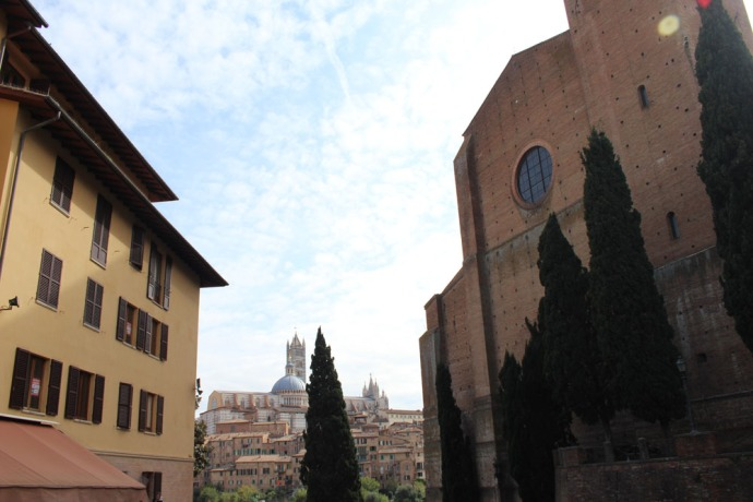 Siena view between buildings outside