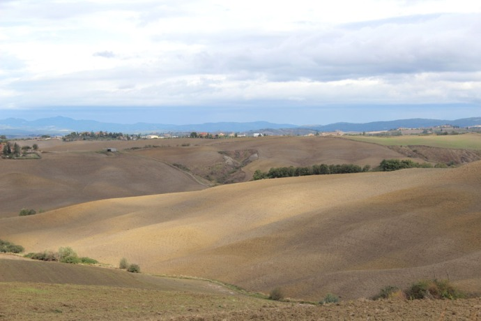 Tuscan countryside golden hills