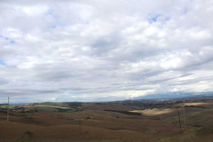 Tuscan countryside view