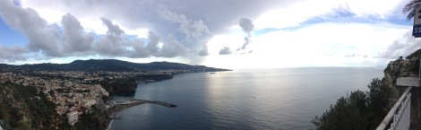 Arriving Sorrento panorama