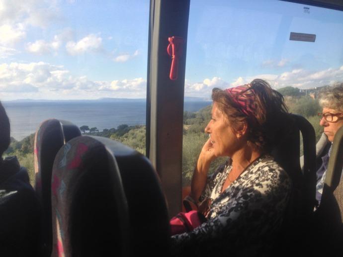 Lucia on bus back Sorrento
