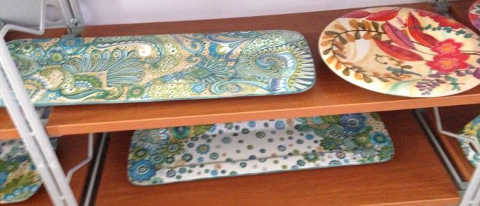 Massa Artinostre ceramics paisley platters