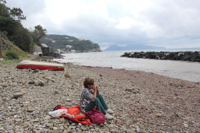 Massa Lucia on rocky beach