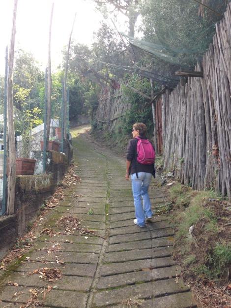 Massa Lucia walking up path