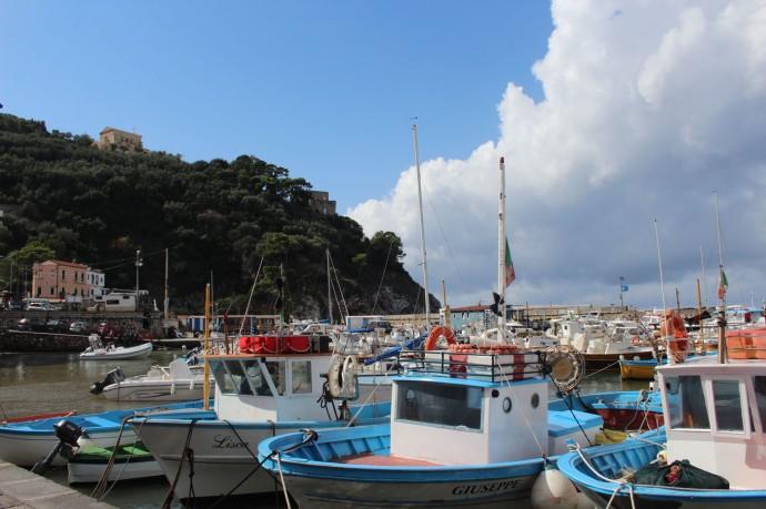 Massa marina boats 3:4 view blue sky