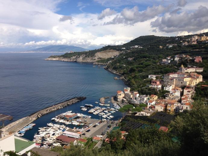 Massa marina, town and hill
