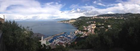 Massa panorama of town, water, sky
