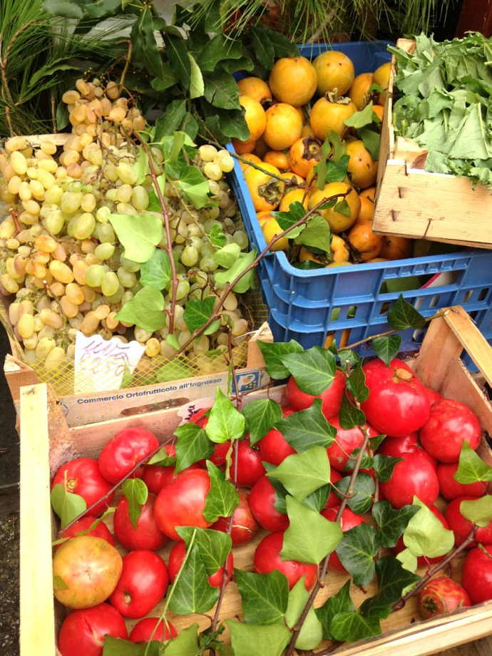 Massa produce, tomatoes, grapes, lemons