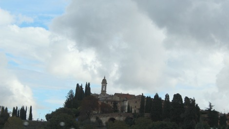 Pienza from below