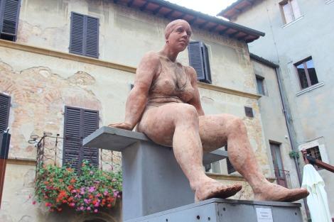 Pienza plump lady sculpture