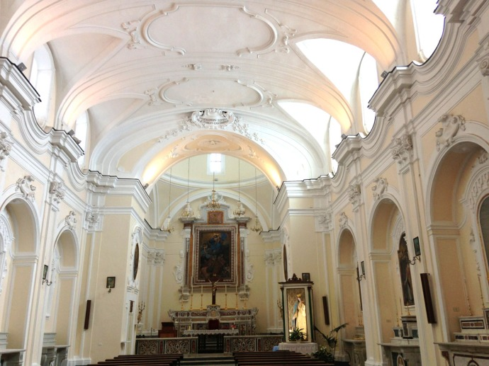 Santa Maria church interior full view