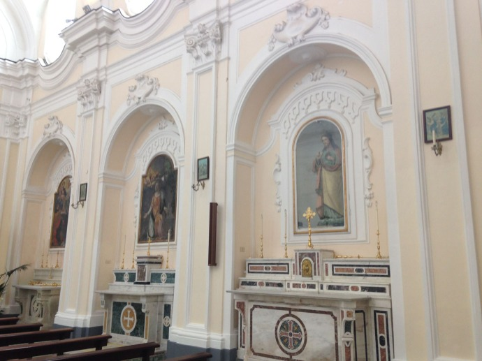Santa Maria church interior, paintings