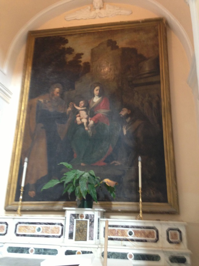 Santa Maria church painting clsup