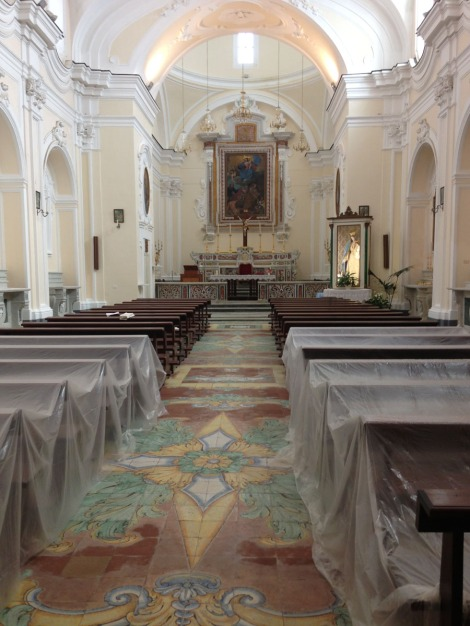 Santa Maria church renovation interior
