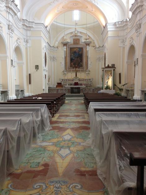 Santa Maria church renovation interior
