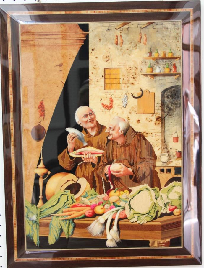 Sorrento A. Stinga monks in kitchen
