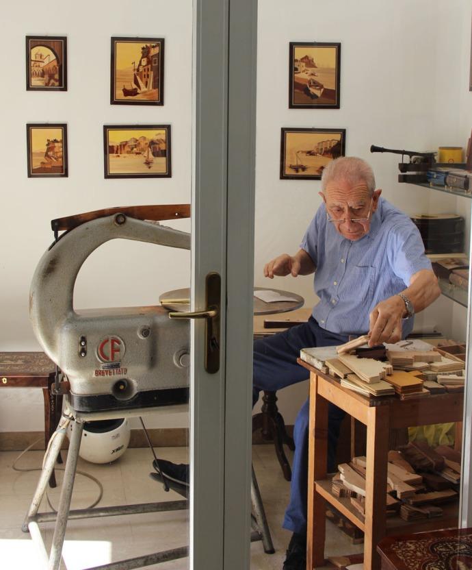 Sorrento A. Stinga older fellow working
