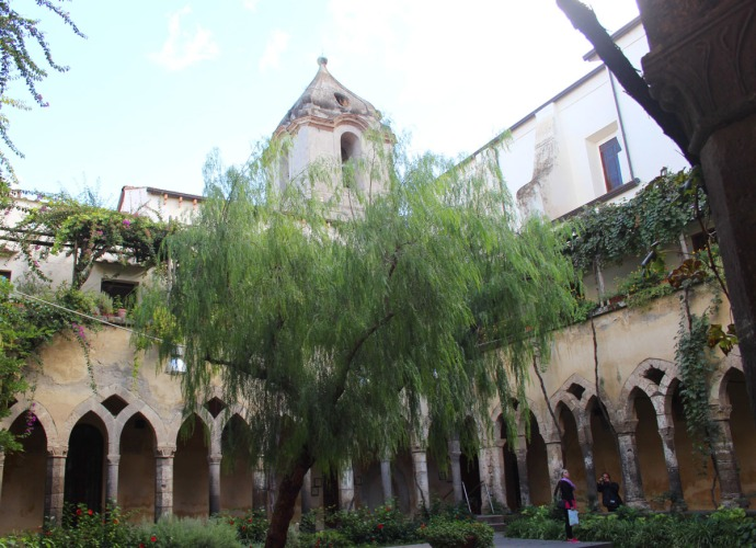 Sorrento Cloister courtyard view, tower