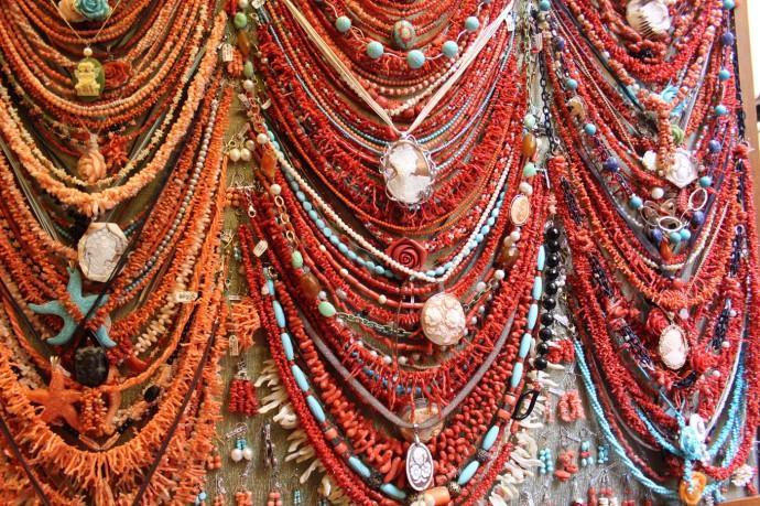 Sorrento coral necklaces