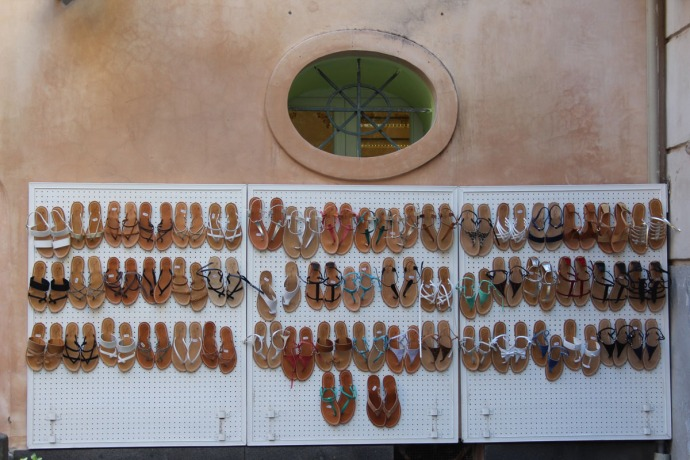 Sorrento flip flop wall display