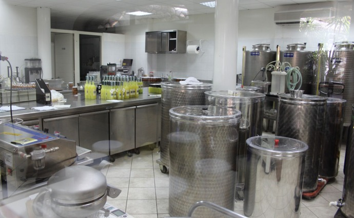 Sorrento Limoncello bottling room