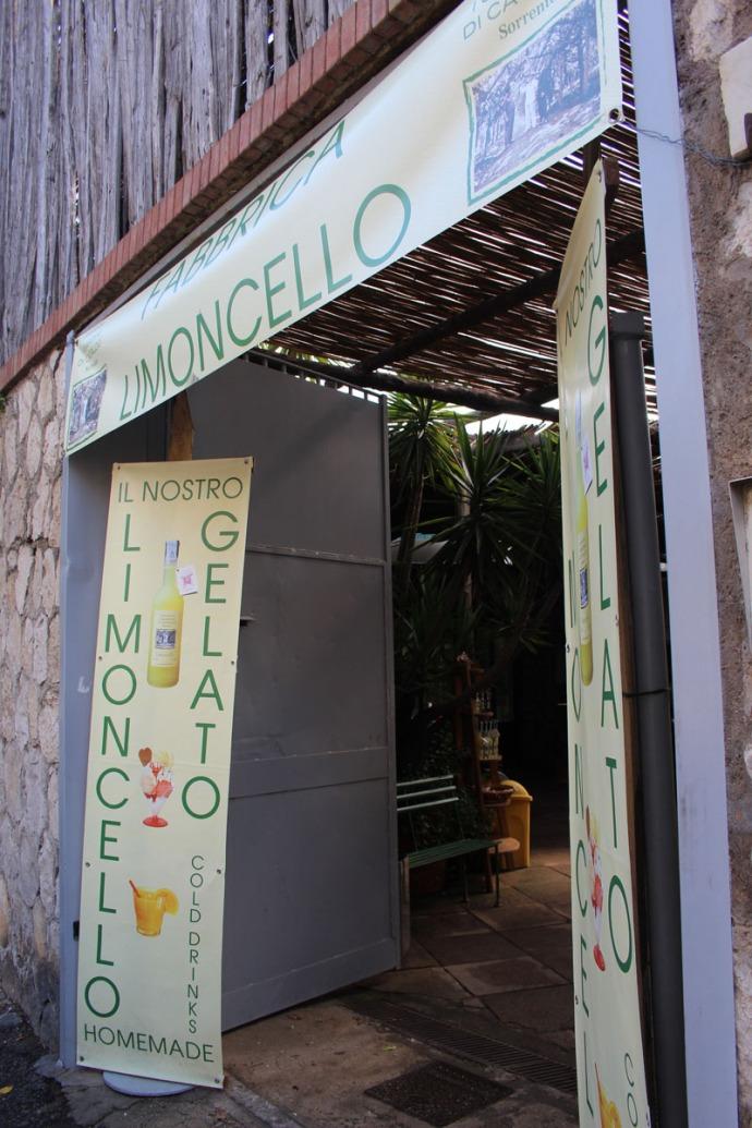 Sorrento Limoncello store entrance