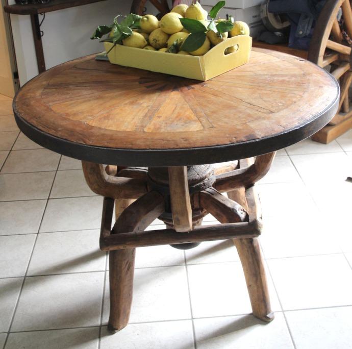 Sorrento Limoncello table, lemons