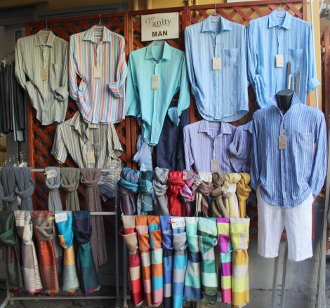 Sorrento mens linen shirts, scarves