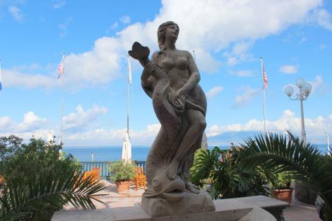 Sorrento mermaid statue hotel