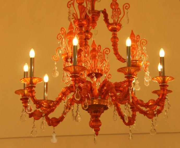 Sorrento pink chandelier