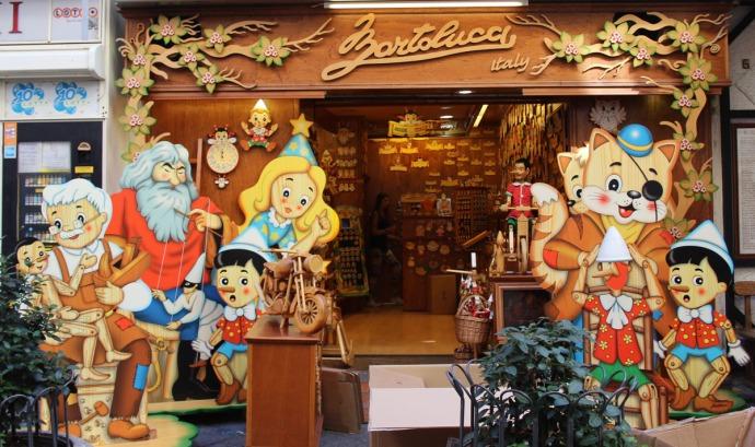 Sorrento pinocchio figure shop