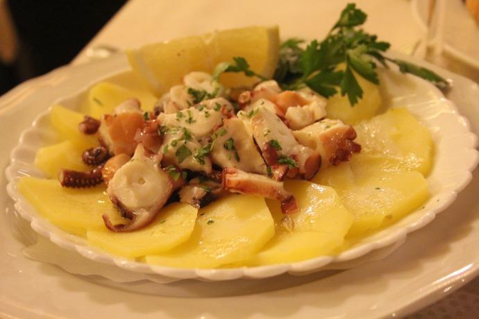 Sorrento Ristorante Da Gigino octopus, potato appetizer
