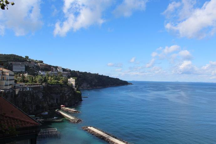 Sorrento view of cliff, sun platforms