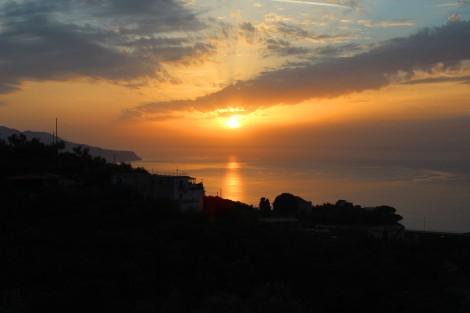 Massa, Sunset 2 golden sky and water