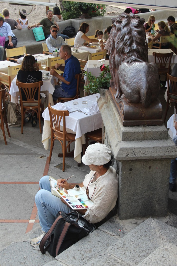 Positano artist working